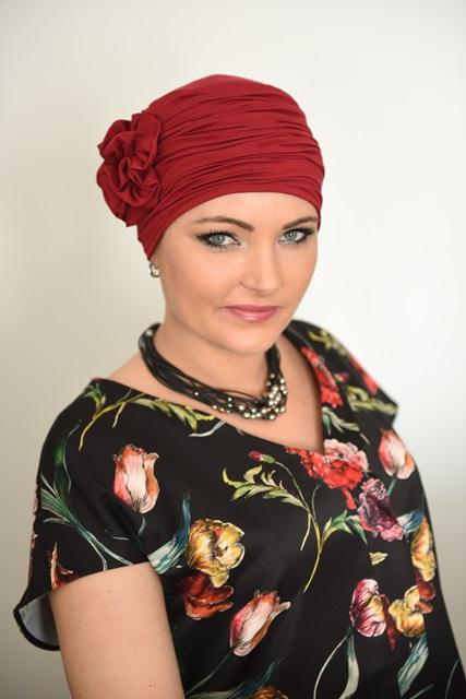 turban retro 3 kwiaty